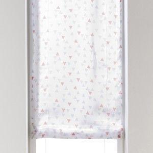 Blancheporte Voálová záclonka s potlačou sivá/ružová 45x160cm