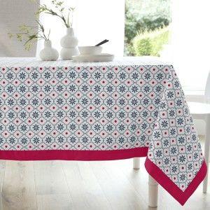 Blancheporte Obrus s potlačou, bavlna červená 150x150cm