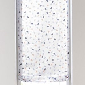 Blancheporte Voálová záclonka s potlačou sivá/žltá 45x90cm