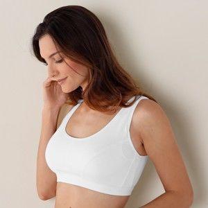 Blancheporte Podprsenka po operácii prsníka, vystužené ramienka biela, koš. B 85