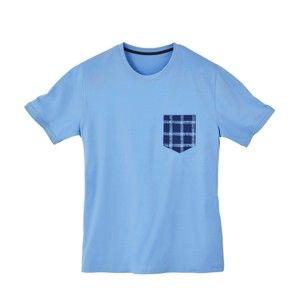 Blancheporte Pyžamové tričko s krátkymi rukávmi nebeská modrá 77/86 (S)
