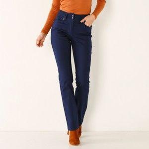 Blancheporte Rovné nohavice s vysokým sťahujúcim pásom nám.modrá 42