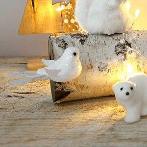 Blancheporte Biele trblietavé vtáčiky, sada 3 ks