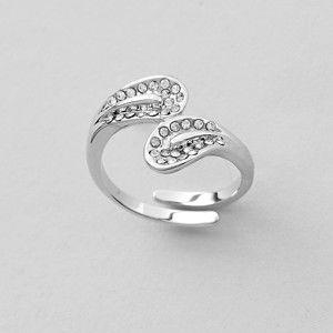 Blancheporte Nastaviteľný prsteň s krištáľmi Swarovski, zo striebra hadový prsteň