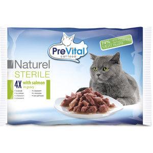 Blancheporte PreVital dusené filetky pre sterilizované mačky 4x85g v omáčke losos losos v omáčke 4x85g