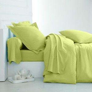 Blancheporte Jednofarebná posteľná bielizeň, bavlna zn. Colombine anízová obliečka na vank. 63x63cm