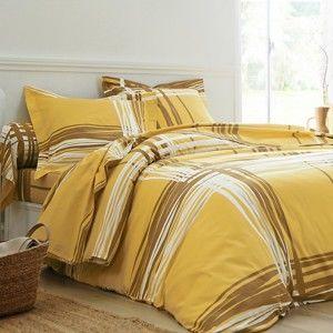 Blancheporte Posteľná bielizeň Augustin, bavlna zn. Colombine žltá napínacie plachta 90x190cm