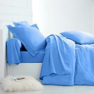 Blancheporte Jednofarebná posteľná bielizeň, polycoton zn. Colombine oceán napínacie plachta 90x190cm