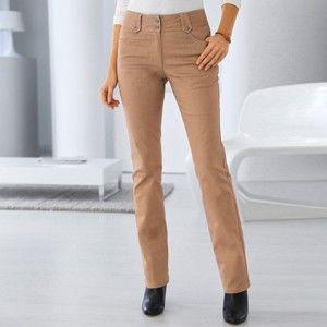 Blancheporte Rovné nohavice s vysokým sťahujúcim pásom oriešková 38