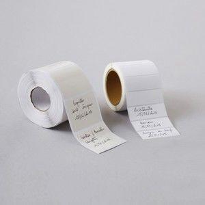Blancheporte Štítky do kuchyne, sada 100 alebo 500 ks biela 100 ks, 5,5x2cm