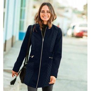 Blancheporte Prešívaný kabát v členitom strihu nám.modrá 50