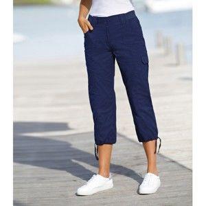 Blancheporte 3/4 nohavice s úpletovým pásom nám.modrá 36