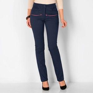 Blancheporte Sťahovacie nohavice, vyššia postava modrosivá 44