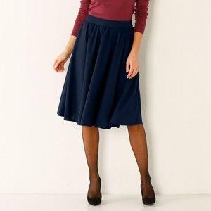 Blancheporte Vzdušná jednofarebná sukňa nám.modrá 46
