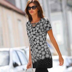Blancheporte Tunika s grafickým dizajnom čierna/biela 40