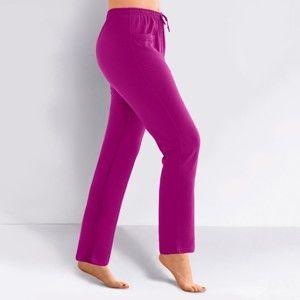 Blancheporte Športové nohavice z meltonu purpurová 50