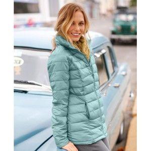 Blancheporte Ľahká prešívaná bunda, krátka svetlá tyrkysová 38