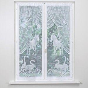 Blancheporte Vitrážky, kôň a labute, sada 2 ks biela 60x120cm