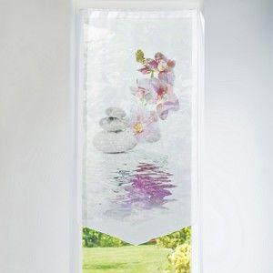 Blancheporte Vitrážová záclonka Orchidea ružová 60x90cm