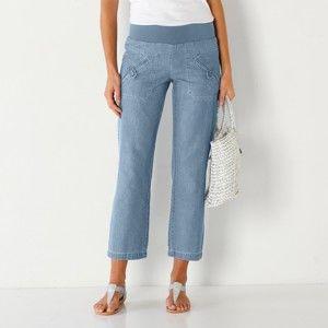 Blancheporte 7/8 džínsové nohavice zapr.modrá svetlá 50