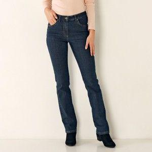 Blancheporte Rovné džínsy, vysoká postava tmavomodrá 44