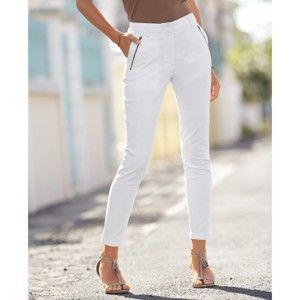 Blancheporte 7/8 nohavice s vreckami na zips biela 38