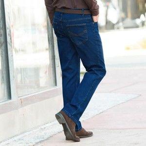 Blancheporte Riflové nohavice z pružnej bavlny modrá 44