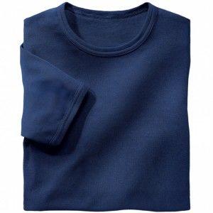 Blancheporte Spodné tričko s okrúhlym výstrihom, sada 3 ks nám. modrá 133/140 (5XL)