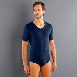 """Blancheporte Spodné tričko s výstrihom do """"V"""", sada 3 ks nám. modrá 109/116 (XXL)"""