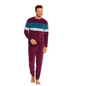 Blancheporte Velúrové pyžamo bordó 87/96 (M)