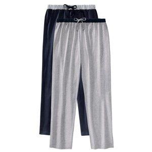 Blancheporte Domáce nohavice, sada 2 ks nám.modrá+sivý melír 36/38