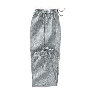 Blancheporte Meltonové nohavice, pružný spodný lem sivý melír 64/66