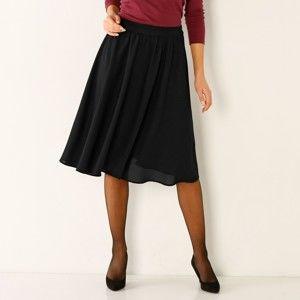 Blancheporte Vzdušná jednofarebná sukňa čierna 40