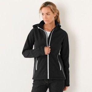 Blancheporte Sofsthellová dvojfarebná bunda čierna 50