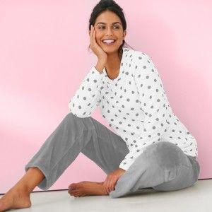 Blancheporte Polar fleecové pyžamo sivá 46/48