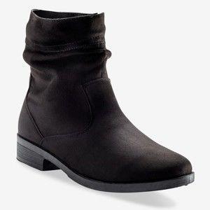 Blancheporte Ploché nízke čižmy na zips čierna 36