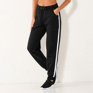 Blancheporte Športové nohavice, dvojfarebné čierna/biela 54
