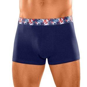 Blancheporte Jednofarebné boxerky, súprava 4 ks modrá/paprika 93/100 (L)