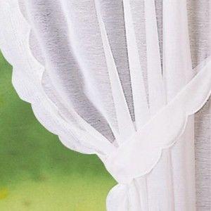 Blancheporte Záclona s výšivkou, súpr. 2 ks biela 80x160cm