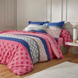 Blancheporte Posteľná bielizeň Aiko, bavlna, zn. Colombine ružová napínacie plachta 90x190cm