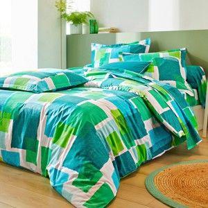 Blancheporte Posteľná bielizeň Palette, bavlna zelená obliečka na prikrývku 240x220