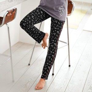 Blancheporte Pyžamové nohavice s potlačou, bavlna čierna/biela 38/40