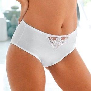 Blancheporte Maxi nohavičky Modern Posy, stredný stupeň stiahnutia biela 50