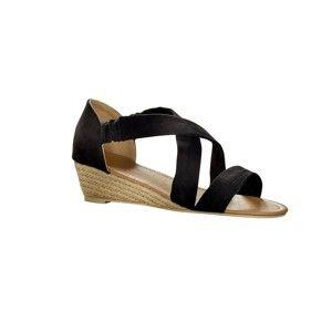 Blancheporte Sandále so semišovoým vzhľadom čierna 41