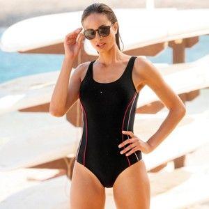 Blancheporte Jednodielne plavky, špeciálne do bazéna čierna/ružová 50
