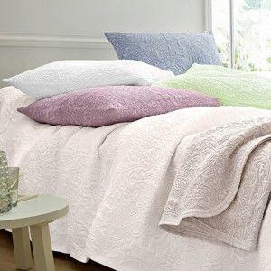Blancheporte Prikrývka na posteľ Melisa prírodná obliečka na vankúš 65x65cm