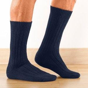 Blancheporte Pracovné ponožky Labonal, sada 2 páry námornická modrá 43/46