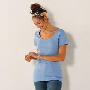 Blancheporte Jednofarebné tričko s krátkymi rukávmi levanduľová 34/36