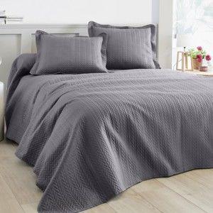 Blancheporte Prešívaný prehoz na postel sivá 220x240cm