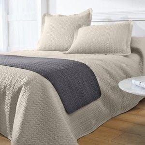 Blancheporte Prešívaný prehoz na postel béžová 180x220cm